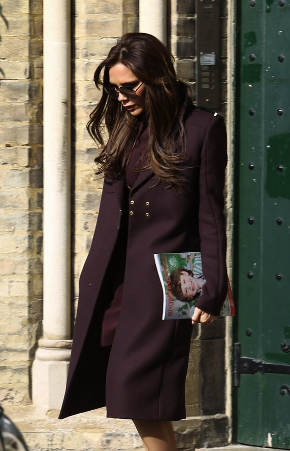 Victoria Beckham Checks Out Schools in London