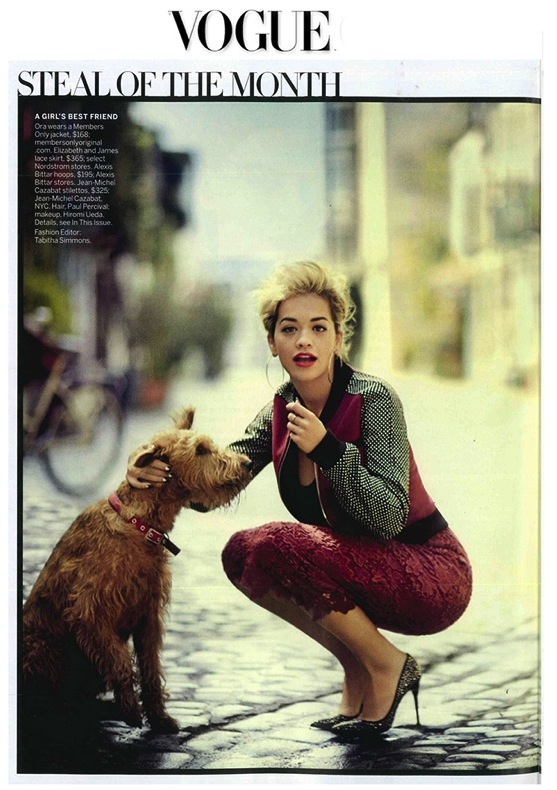Vogue US August - Rita Ora - jean michel cazabat
