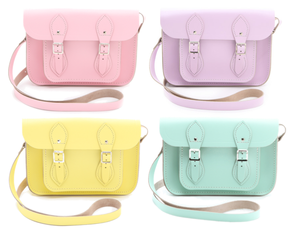 cambridge-satchel-pastel-pink-yellow-purple-green