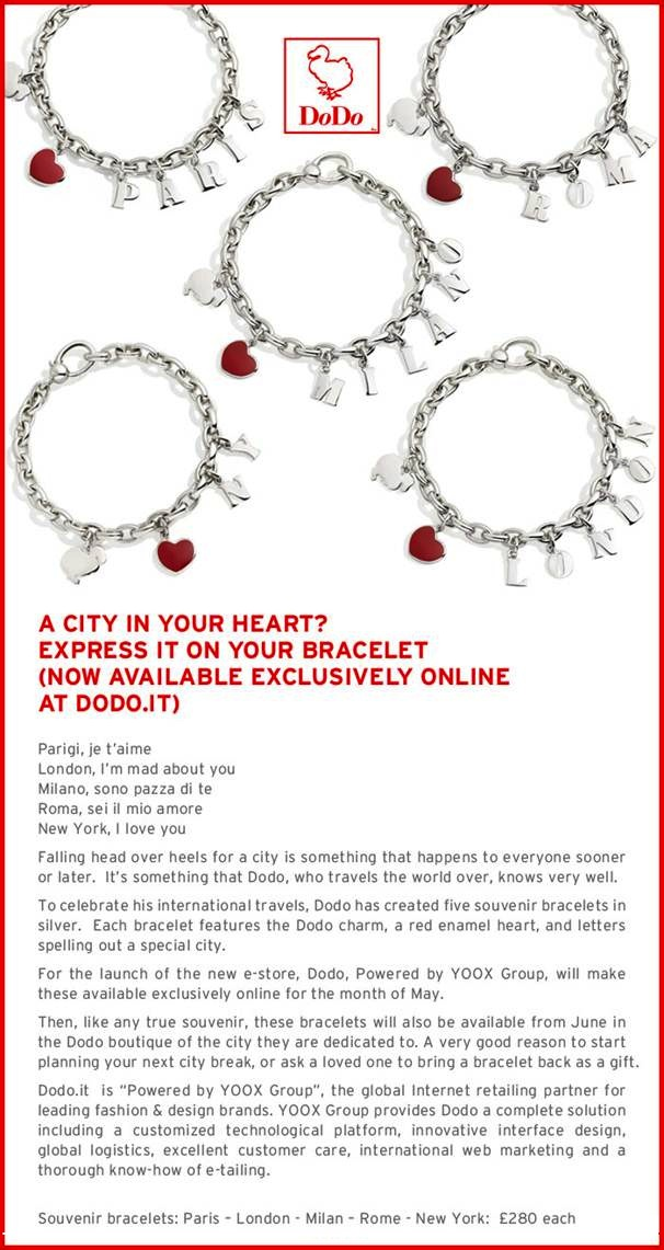 bracelets created by the london dodo boutique gioielli t