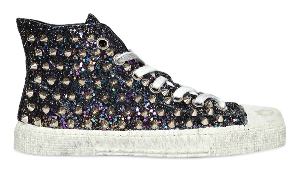 hot sale online 8eb10 b49f1 Gienchi Glitter Studded Hi Tops | The Fashion Supernova