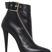 Giuseppe Zanotti Twisted Zip Suede Ankle Booties