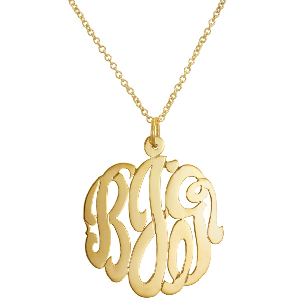 initial reaction gold necklace