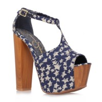 Jessica Simpson Dany Platforms In Navy Star Print