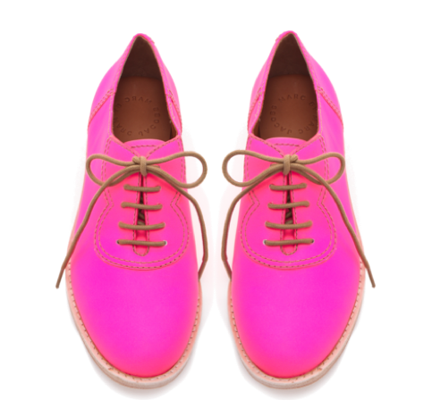 marc-by-marc-jacobs-neon-pink-brogue-oxfords-shoes