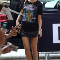 Miley Cyrus in a Balenciaga Join A Weird Trip Sphinx T-Shirt