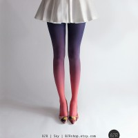 BZR's Ombre Dip Dye Tights
