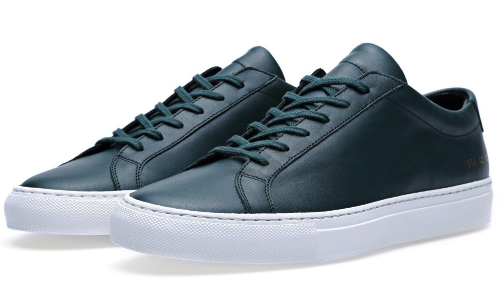 Common Projects Original Achilles Low Whitesole Green