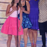 Lea Michele in a Oscar de la Renta Pink Dress at Teen Choice Awards
