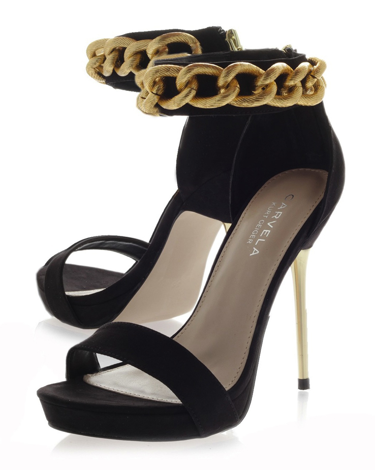 Carvela Kurt Geiger Glib Chain Shoes Heels | The Fashion Supernova