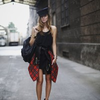 Trend – Red Plaid & Shirts Around Waists