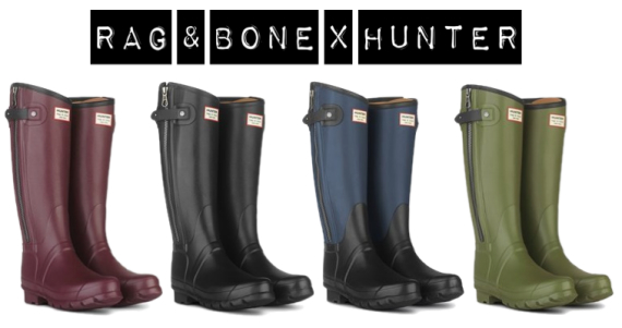 Rag & Bone x Hunter Wellies Rain Boots Collaboration | The Fashion ...