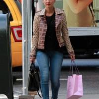 Olivia Munn in a Martí x Dani Stahl Leather Jacket for Calypso St. Barth