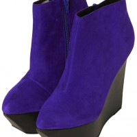 Topshop Attik Purple Wedge Platforms
