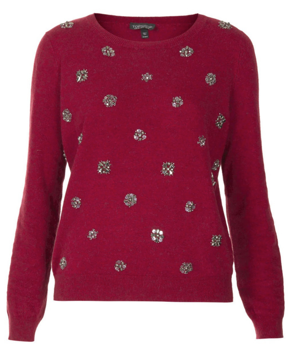 topshop-red-embellished-knit