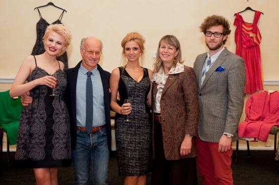 Kilver Kourt Chloe Jasmine Whichello (model), Roger Saul, Louisa Rossiter (model) Monty Saul, Freddie Saul.