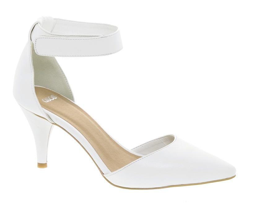 asos sonic white pump heels