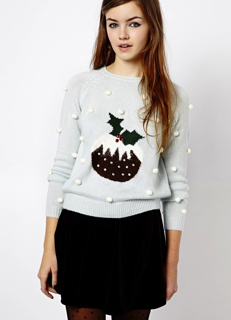christmas jumper new look pudding
