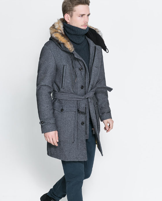 zara coat with fur hood
