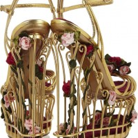 Dolce & Gabbana Rose Cage Sandals