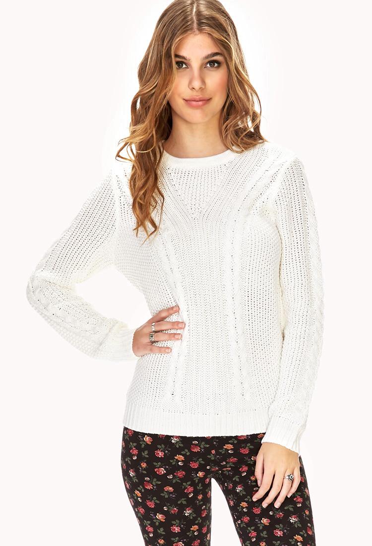 forever 21 white knit