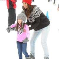 Jamie Chung Skates in American Eagle