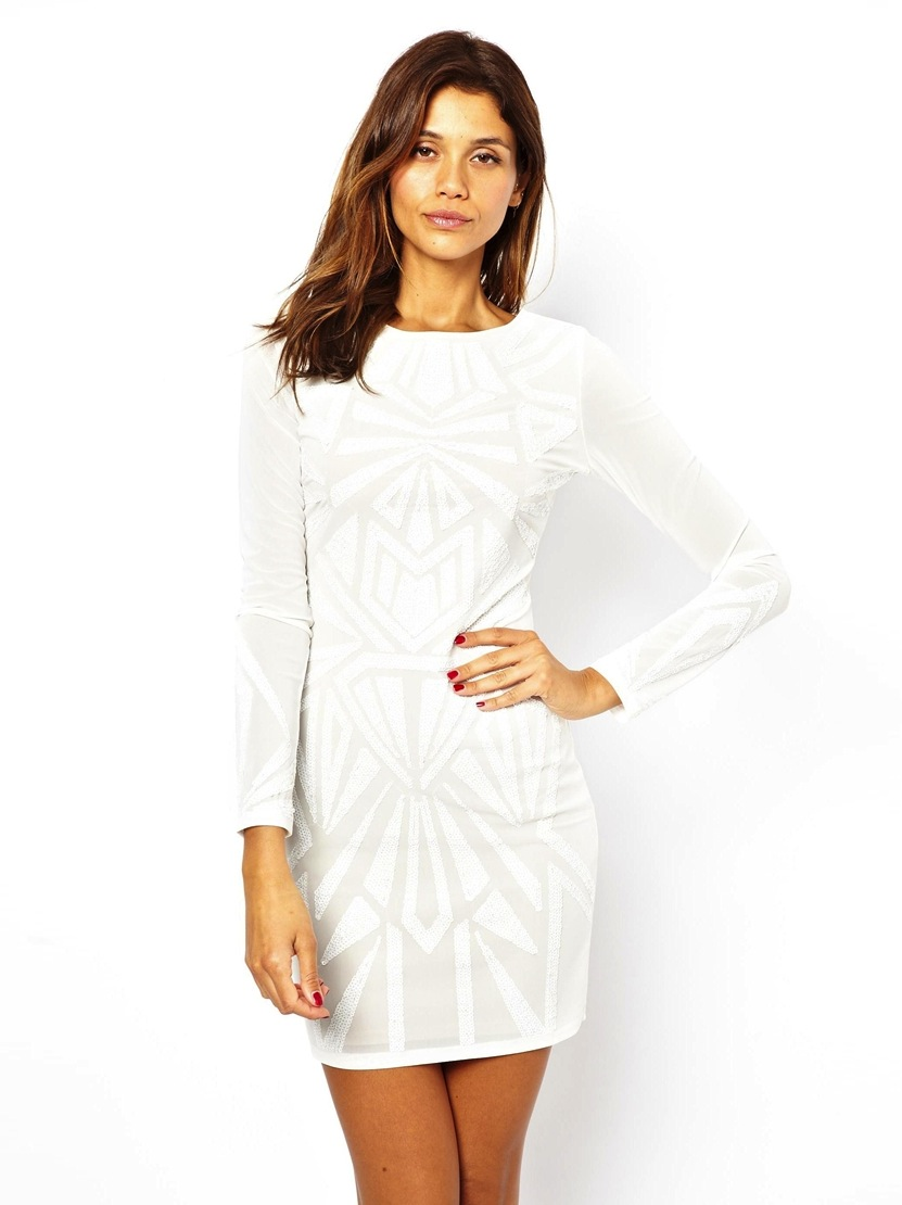 lipsy bodycon white dress