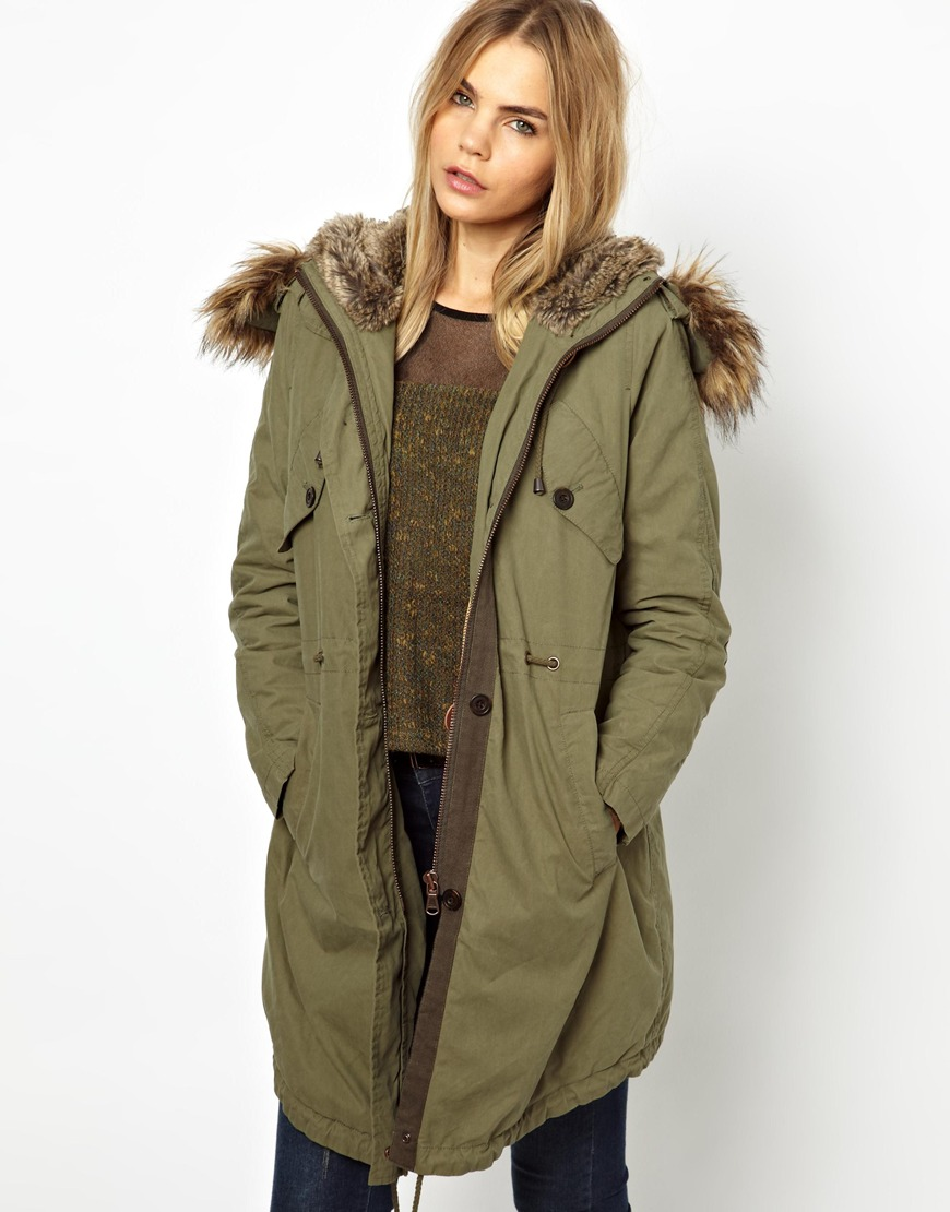 Parka jacket for women