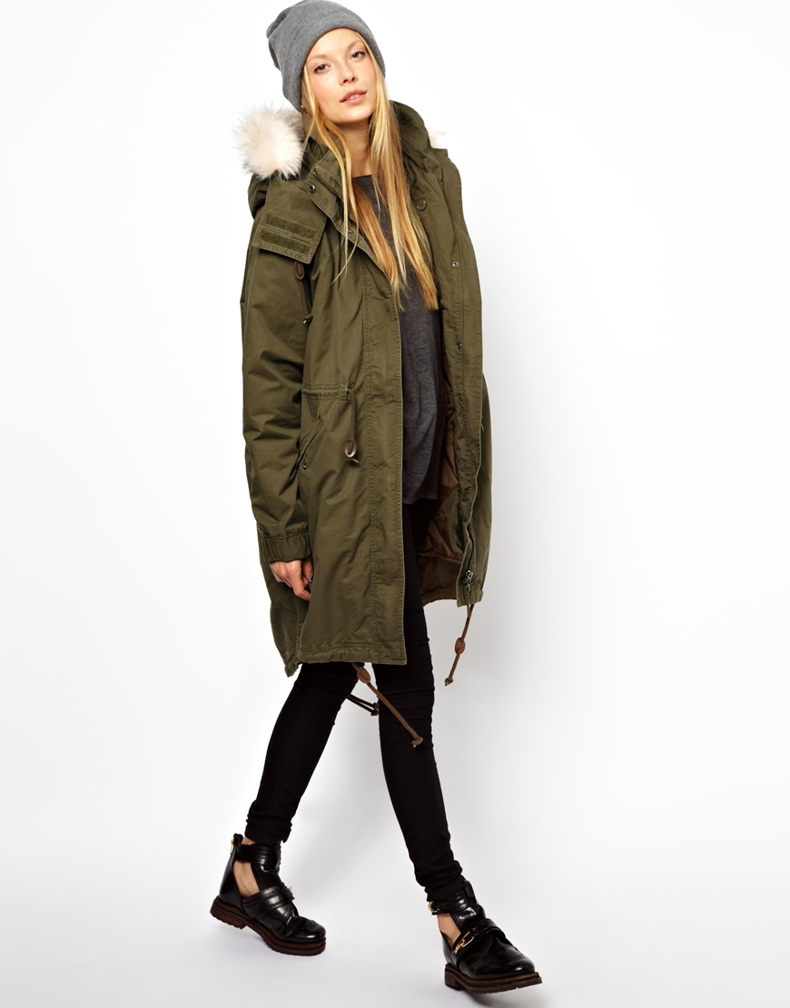 Ladies Parka Fox Fur Trimmed Hood | Mount Mercy University