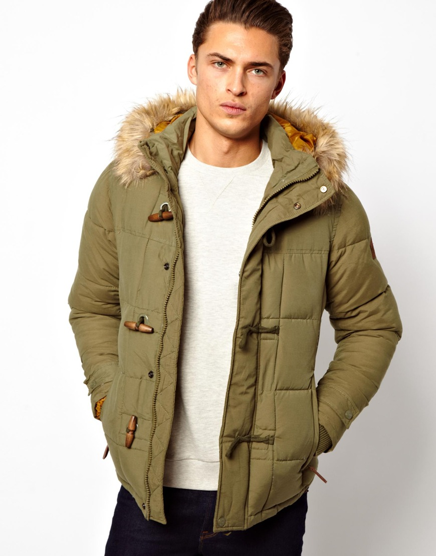 Green Mens Parka Coat - JacketIn