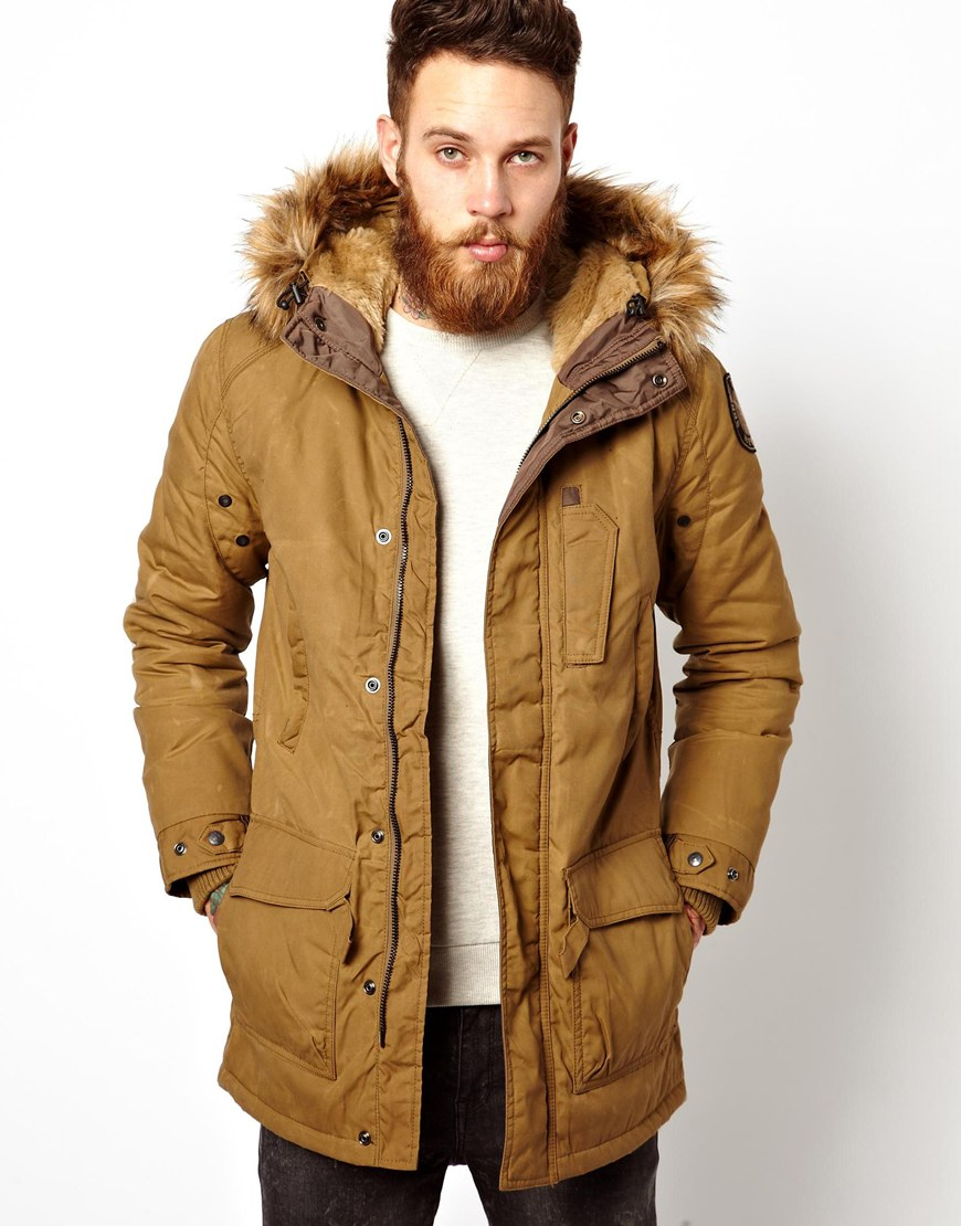 Jacket With Fur Hood Mens | Jackets Review