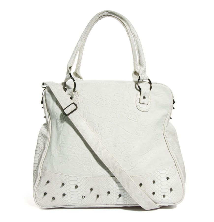 religion white studded bag