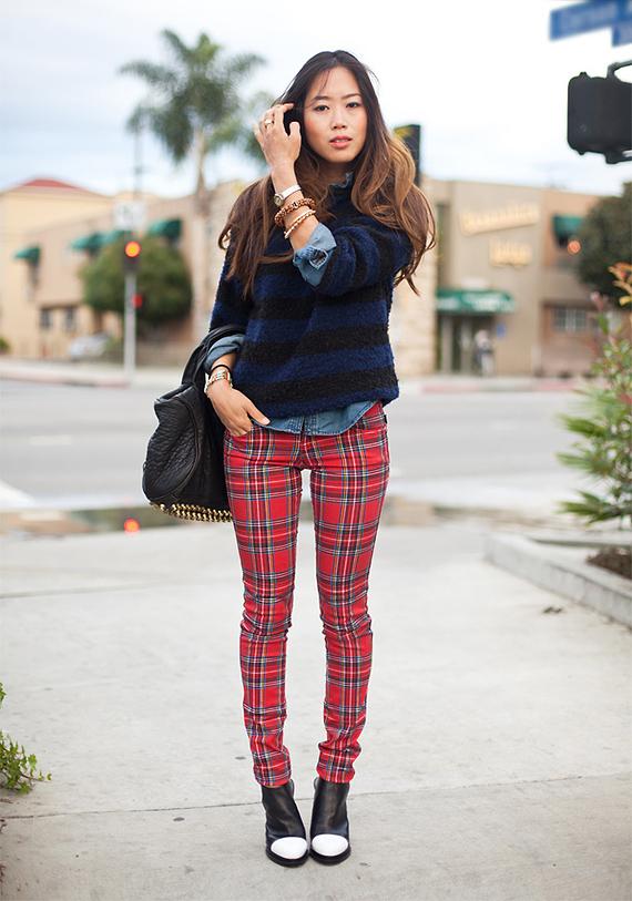 tartan jeans