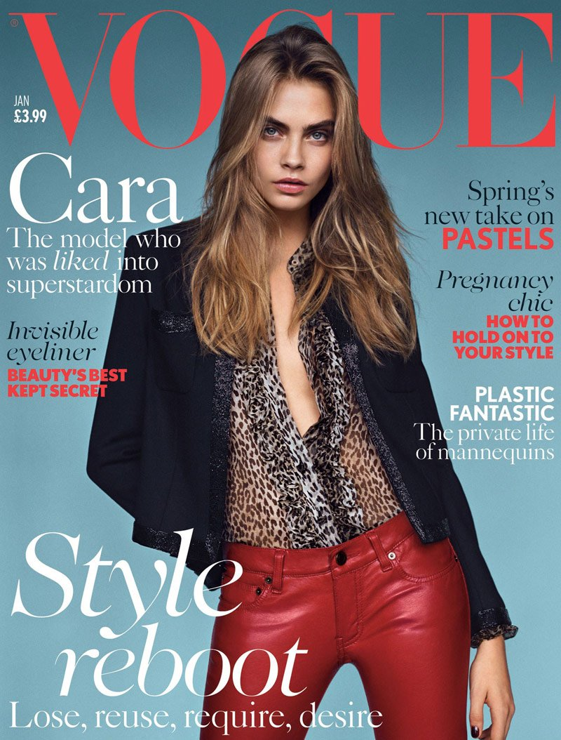 cara-delevingne-vogue- january-2014-saint-laurent-cover