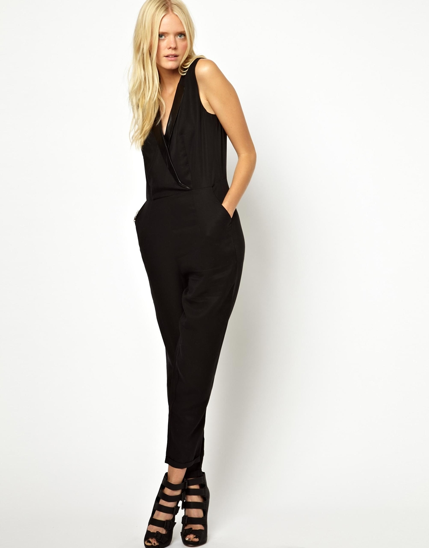 Amazing Three Dots Strapless Jersey Jumpsuit For Women  Bagep