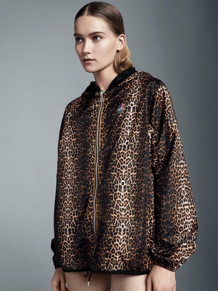 maje k-way collaboration leopard