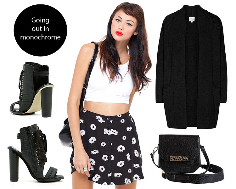 Monochrome going out outfit