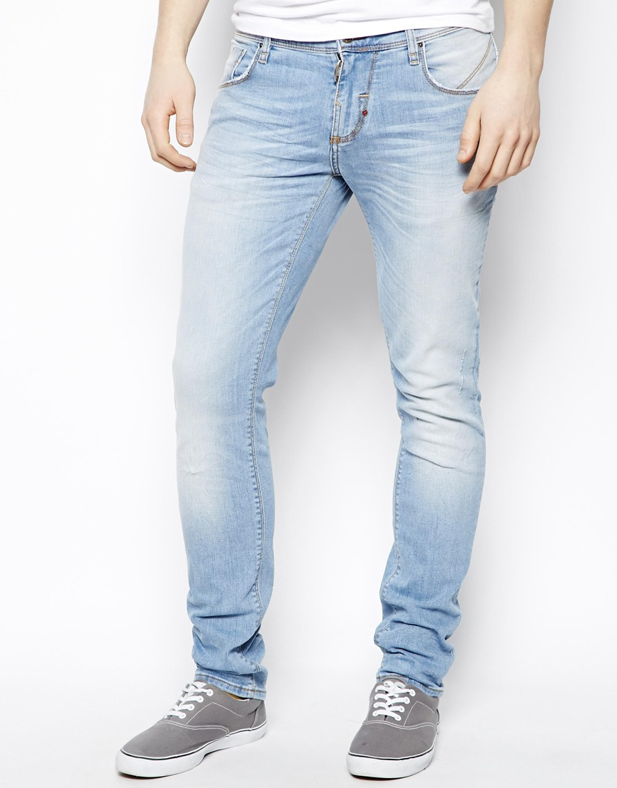 Light denim skinny jeans mens – acbt