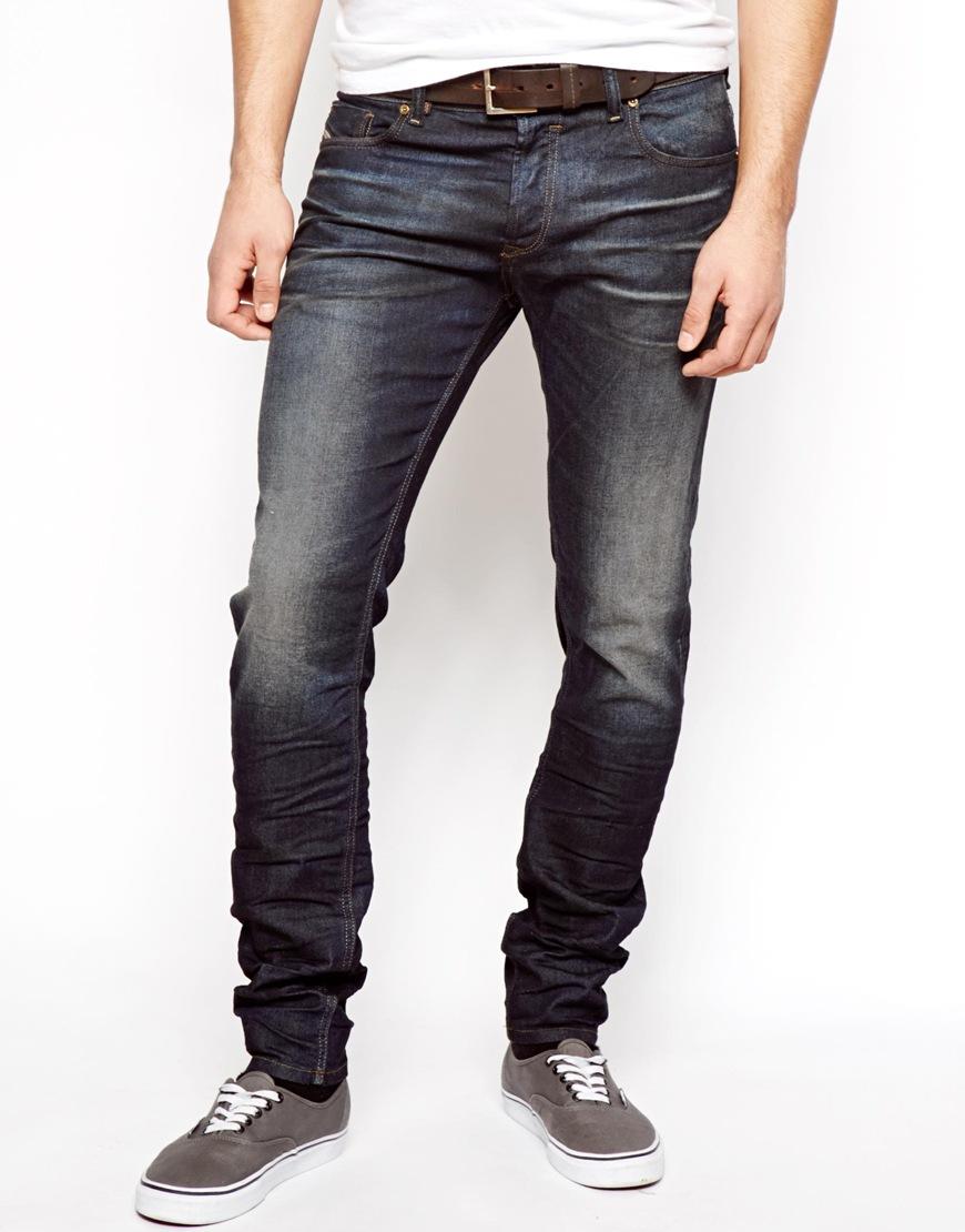Mens Dark Wash Slim Fit Jeans