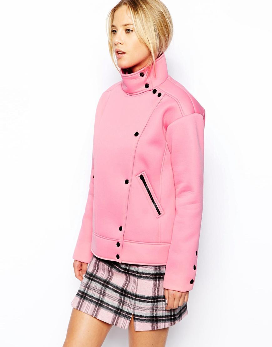 asos-jacket-popper-front-funnel-neck-pink