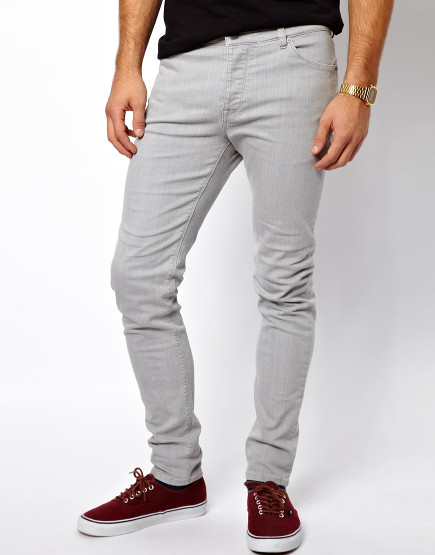 Grey Skinny Jeans For Men - Jeans Am