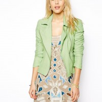 10 Spring Pastel Leather Biker Jackets
