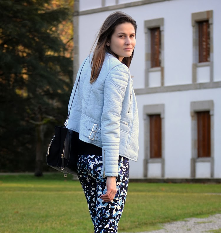 Hot Pastel Pale Powder Blue Leather Jackets The Fashion