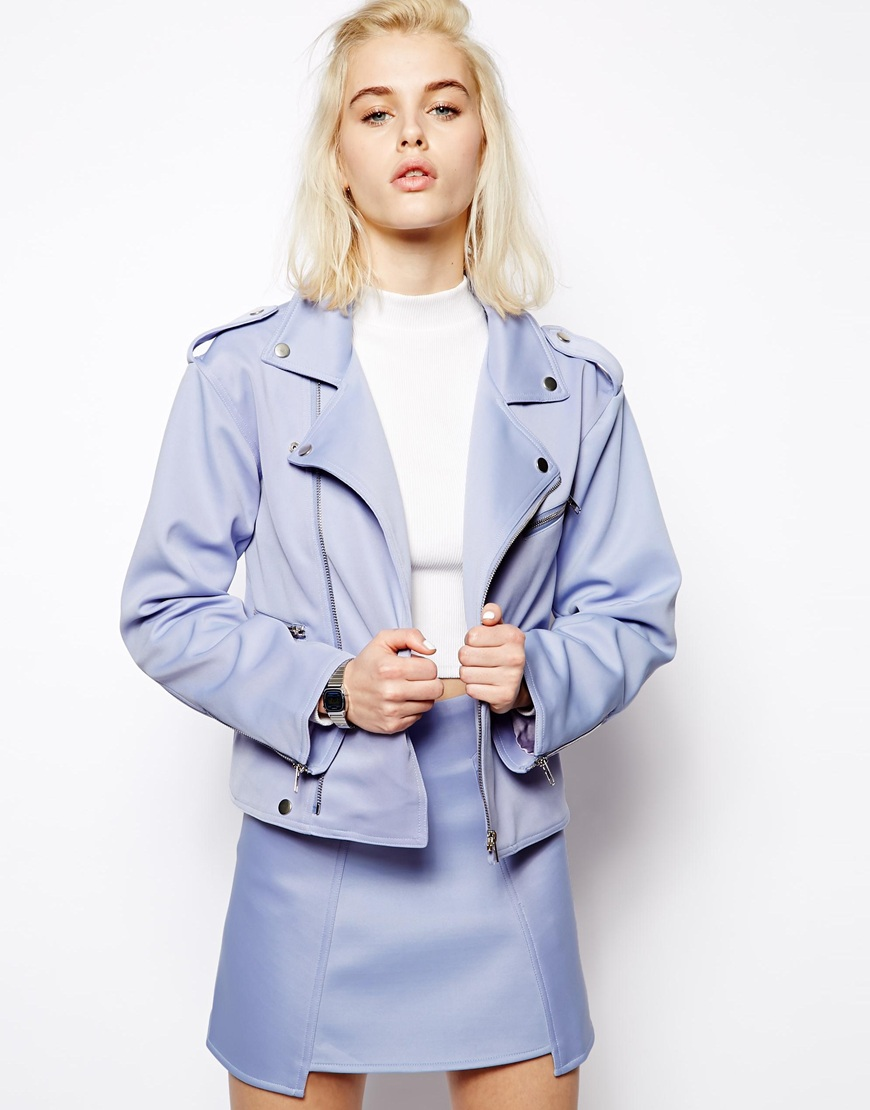 144f4d85e 10 Spring Pastel Coloured Leather Biker Jackets