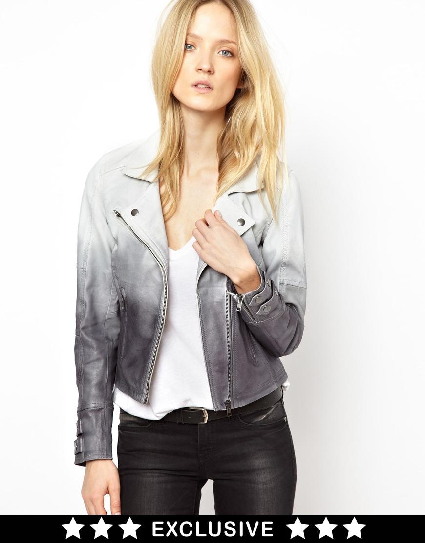 Selected biker leather jacket