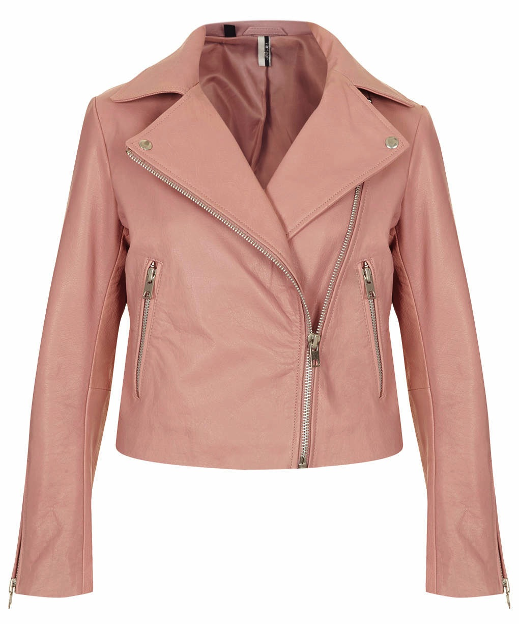 10 Spring Pastel Coloured Leather Biker Jackets | The Fashion ...