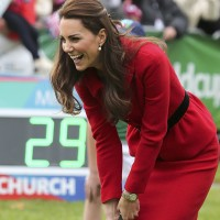 Kate Middleton Looks Stunning In A Red Luisa Spagnoli Skirt Suit