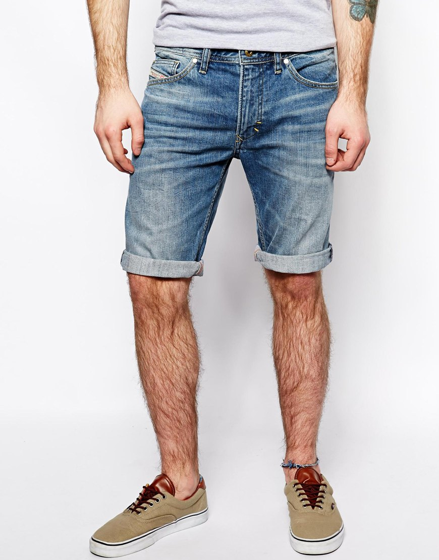 All denim shorts began as jeans that were cut at the knees, today not all shorts are cut-offs. Luckily for him, the jeans makers of the world caught on and started to create relaxed pants in a shorter style, so he wouldn't have to sacrifice his best jeans by cutting them off at .