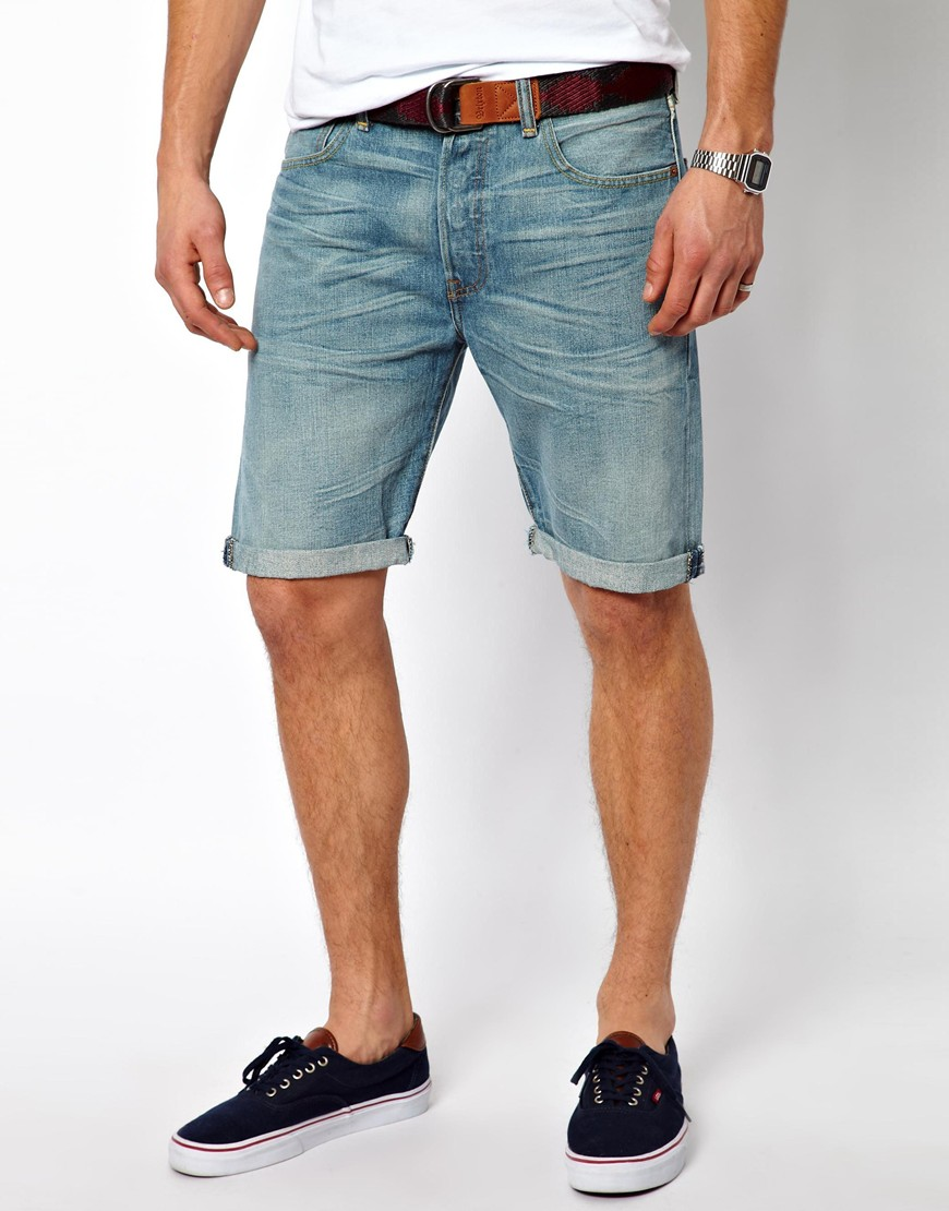 Discover the range of men's denim shorts at ASOS. Shop from a range of men's short shorts, camo shorts and denim chino shorts. Available today at ASOS.