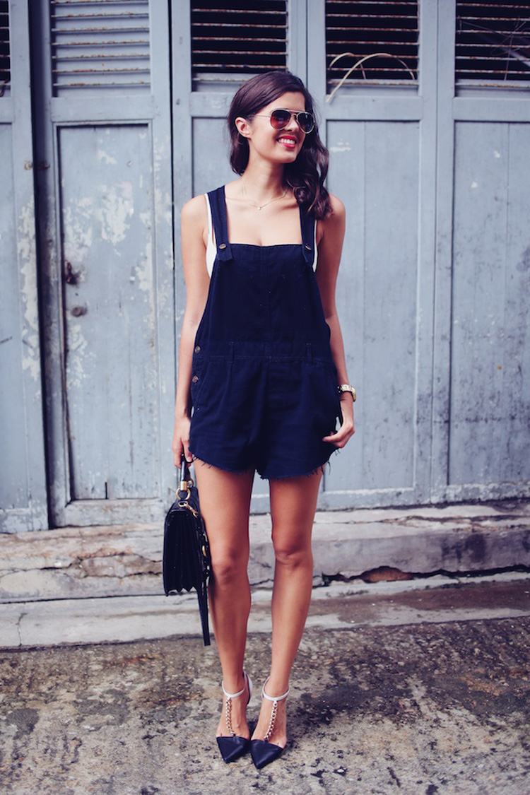 How To Wear Denim Overalls Dungarees For Summer 2014 | The Fashion Supernova